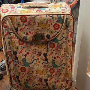 Cat print suitcase